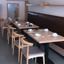 平潭县靠墙沙发桌椅,简约皮革沙发和桌椅组合