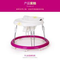新款 婴幼儿童学步车圆盘学步车 助步车 可折叠 防侧翻 多功能