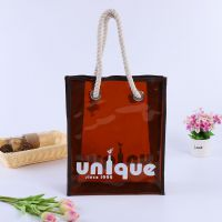 PVC手提包装袋PVC透明塑料袋PVC广告化妆品袋子定制来样定做批发