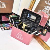 热销四开盒3ce化妆包女韩国手提大容量化妆箱多功能化妆品收纳包