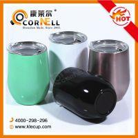 不锈钢蛋蛋杯双层真空保温杯厂家直销304钢出口产品免费制作LOGO