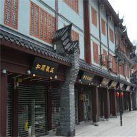 重庆连锁火锅店铝方管焊接铝花格屏风定做