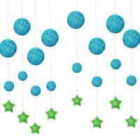 幼儿园吊饰挂饰走廊元旦节商场店铺教室装饰环境布置成品空中吊饰