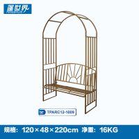 欧式铁艺户外拱门双人椅花园带座椅TPARC12-1009
