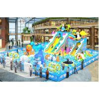 大型儿童充气乐园 海洋球乐园价格 充气城堡