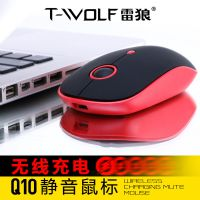 跨境专供无线鼠标充电台式电脑笔记本发光牧马人无声静音游戏鼠标