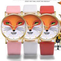 外贸热卖 石英手表时尚韩版狐狸字面时尚清新腕表女表儿童手表