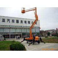 供应10.5米自行走升降台 修路灯用移动式高空升降机