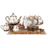 骨瓷咖啡具套陶瓷咖啡具套装15头陶瓷咖啡具套装