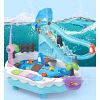知雅磁性钓鱼竿儿童钓鱼玩具池套装