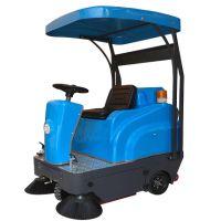 皓森驾驶式扫地车HS-1250 物业保洁工厂吸树叶粉尘颗粒带蓬扫地机