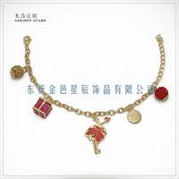 雅诗兰黛圣诞手链专柜赠品礼品 彩色金属礼物盒挂件跳舞的女孩挂