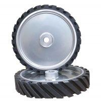 砂带抛光机橡胶轮 65硬度抛光轮 抛光机胶轮