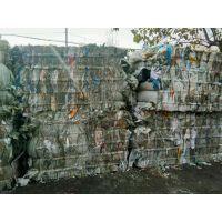 上海回收编织袋压缩打包机-用卧式半自动打包机打包编织袋的工作视频-山东金亿机械