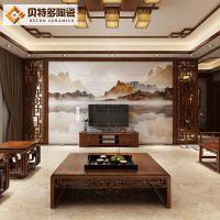 佛山中式背景墙瓷砖 现代客厅微晶石墙砖 欧式简约电视背景墙瓷砖