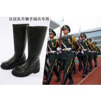 新款二战军靴骑马靴男高筒靴仪仗阅兵军靴骑士马术马靴军官皮靴黑
