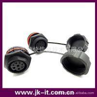 供应  黑色胶壳 螺纹 环保 IP68 防水连接器 工控系统及装备