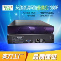 天视通NVR H.264 TS9236  硬盘录像机36路双盘 UC2天视通录像机
