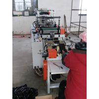 江阴市隆升橡塑机械专业生产塑料连卷背心式垃圾袋制袋机.
