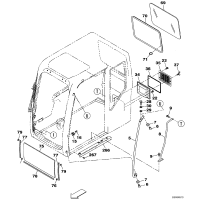 CASE凯斯CX210B挖掘机驾驶室玻璃