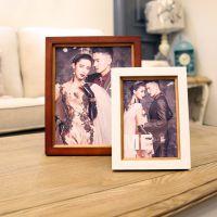 新款热销 实木相框摆台7寸10寸木质像框 影楼婚纱相框 厂家批发