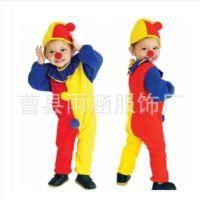 新款圣诞节cosplay服装 儿童演出服化妆舞会表演小丑礼服中性
