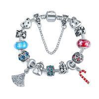 亚马逊速卖通热销圣诞款饰品女潘家diy欧美风琉璃珠水晶手链手饰