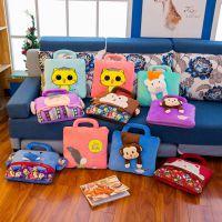 厂家直销新款定制卡通夏凉被多功能手提抱枕被卡通被毛绒玩具批发