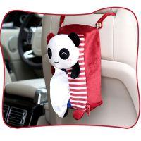 出口日本毛绒车载车用纸巾盒 可爱动物车载挂饰纸巾抽汽车用品