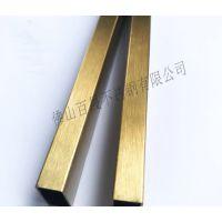 黑钛金不锈钢方管 彩色玫瑰金不锈钢圆管 不锈钢玫瑰金拉丝矩形管