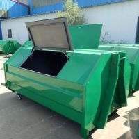3立方钩臂垃圾箱大型户外铁皮垃圾箱多少钱一个