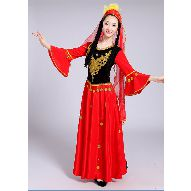 西域风情维族舞蹈演出民族服装女新疆维吾尔族表演服丰收时节