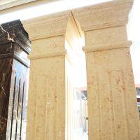 大理石方形立柱工艺品 创意大理石工艺品 个性花纹立柱工艺品