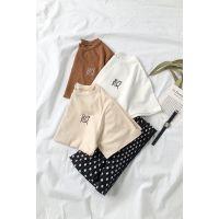 新款热销春夏季打底衫韩版印花女式短袖t恤舒适女装纯棉T恤批发
