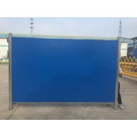 江门工地彩钢夹芯板围挡 工地施工临时护栏 建筑工地蓝色隔离围蔽