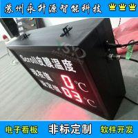 苏州永升源厂家直销温湿度监测屏 铝液温度测量看板 车间信息综合显示屏