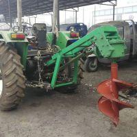 工地立柱拖拉机地钻机 挖坑机设备