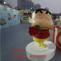 杭州玻璃钢雕塑 卡通人物蜡笔小新仿真雕塑 卡通展摆件