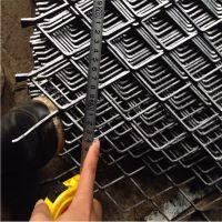 建筑公司重型拉伸网 基坑护坡喷漆钢板网 防滑耐重型钢板网