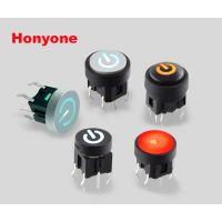 HONYONE 供应TS1方形无外框带灯轻触开关,7.4*7.4mm轻触带灯开关