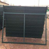 小区街道防护网 绿色铁丝防护网墙批发 益阳市浸塑金属网厂家