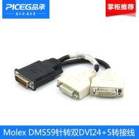 原装Molex DMS59针转2DVI24+5母口显卡转接线 显卡59针高清线屏蔽