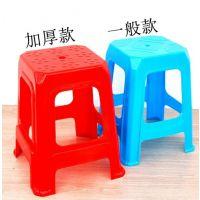 方凳塑料凳子加厚板凳家用高脚凳矮凳成人塑胶椅子餐厅餐桌座椅大