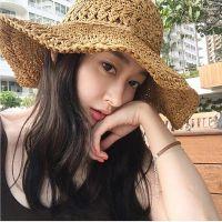 手工编织钩针草帽女夏天镂空可折叠大沿帽海边沙滩帽度假遮阳帽子