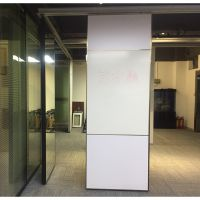 可写字的活动墙隔断|深圳办公会议教室写字板折叠活动隔断定制