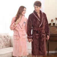 秋季加绒保暖外穿男士睡袍 睡衣长珊瑚绒绒加大绒绒冬装家居
