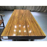 非洲奥坎实木大板桌原木绿心檀红木茶桌茶台办公桌