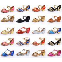 拉丁舞鞋儿童女孩软底平跟少儿拉丁鞋练功舞蹈鞋女童跳舞鞋夏特价