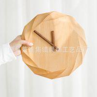 欧式客厅实木挂钟创意艺术简约客厅时钟时尚木质钟表榉木挂表静音