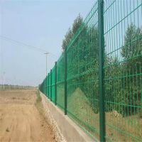 现货护栏网片 铁丝焊接护栏 绿色隔离栅围挡